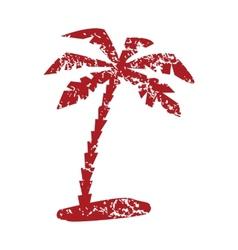 Red grunge travel logo vector image