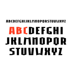 Sanserif font in weightlifting style vector
