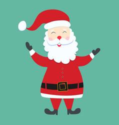 Santa claus christmas character on green vector
