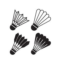 shuttlecock icon design set bundle template vector image