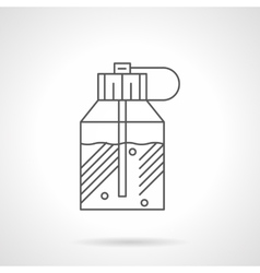 Spray perfumes flat line icon vector image