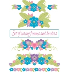 Spring frames and borders isolated vector