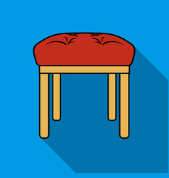 Stool icon in flat style isolated on white vector