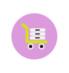Stylish icon in color circle luggage shipping vector