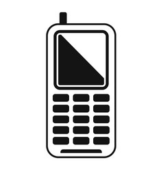Survival phone icon simple style vector