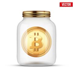 symbol of save digital money vector image