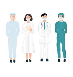 thank you doctors and nurses working in hospitals vector image