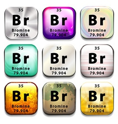 The bromine element vector