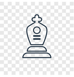 tomb concept linear icon isolated on transparent vector image