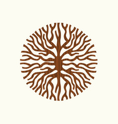 Tree root concept nature symbol vector