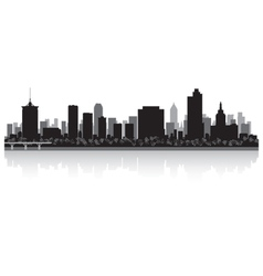 Tulsa USA city skyline silhouette vector image