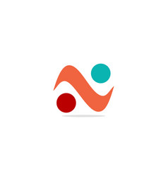 wave shape balance logo vector image