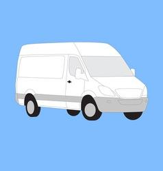 White delivery van vector