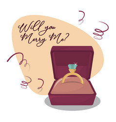 will you marry me cartoon vector image