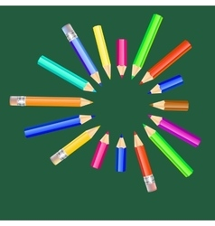 with colored pencils vector image