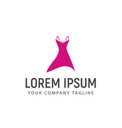 women clothes logo design concept template vector image