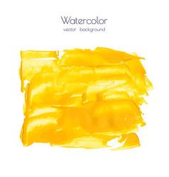 yellow golden watercolor texture background vector image