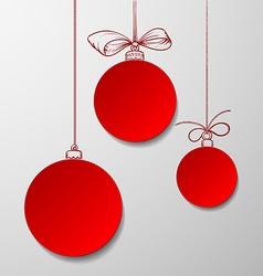 Christmas balls Stock vector image vector image