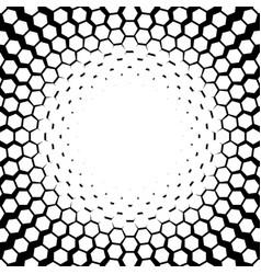 Hexagon halftone vector