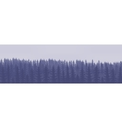 Horizontal abstract banners of hills of coniferous vector image vector image