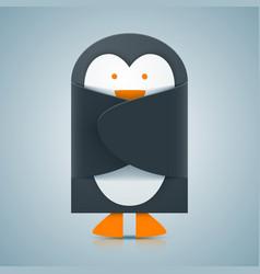 paper penguin - envelope icon vector image