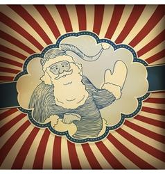 santa claus vintage vector image vector image