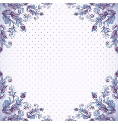Seamless vintage background baroque pattern vector image vector image