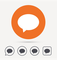speech bubble icon chat sign vector image