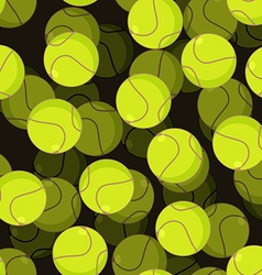 Tennis ball 3d seamless pattern Sports accessory vector image