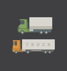 trucks delivery vehicle vector image