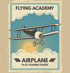 vintage aircaft poster vector image