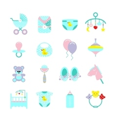 Baby Colored Icon Set vector image