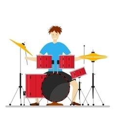 Drum Player Man vector image