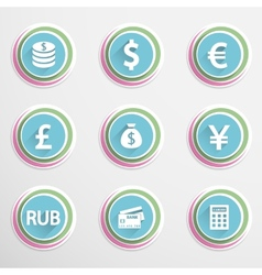 Finance buttons vector image vector image