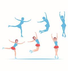ladies figure skating vector image