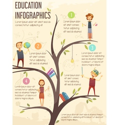 Primary Middle School Education Infographic Poster vector image vector image