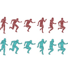 Silhouette Exercising vector image vector image