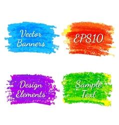 Strokes of colored pencils vector image