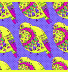 bright multicolored seamless pattern with birds vector image vector image