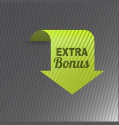 Colorful website extra bonus arrow button design vector