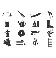 Gardening tools collection vector image