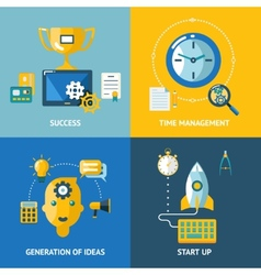 Generation of ideas start up time management vector image vector image
