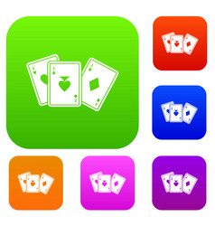 playing cards set collection vector image vector image
