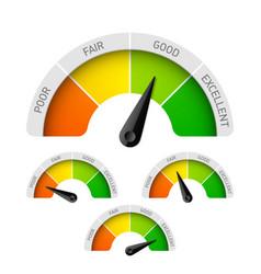 Rating meter vector image vector image