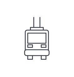 trolleybus passenger transport thin line icon vector image