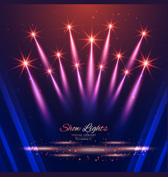 Beautiful show lights background vector
