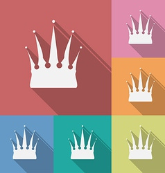 Icon of Crown Flat style vector image vector image