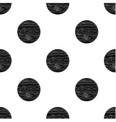jupiter icon in black style isolated on white vector image