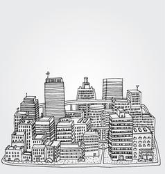 Just a Sketch of a Big City vector image