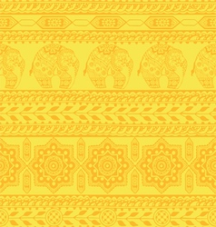 seamless pattern with asian ornament vector image